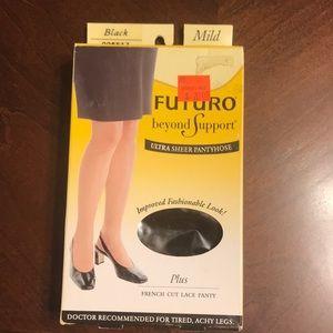 Futuro Beyond Support Ultra Sheer Pantyhose Plus